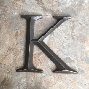 "Letter ""K"" wall decor"